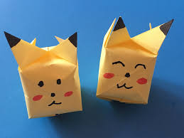 origami for kids how to make origami paper pokemon pikachu