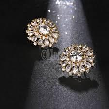 big stud earrings new silver color big luxurious stud earrings high