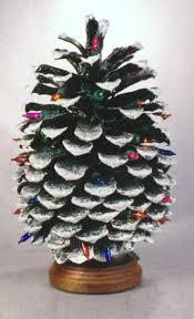 počet nápadov na tému pine cone christmas tree na pintereste 17