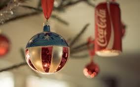 coca cola christmas decoration hd wallpapers 4k