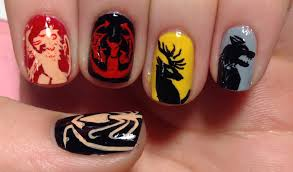 game of thrones nail art tutorial request youtube