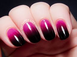 bright to vampy pink gradient chalkboard nails nail art blog