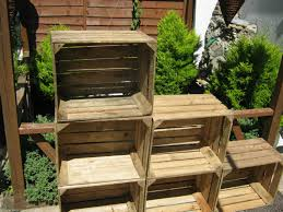 Rustic Wooden Outdoor Furniture Vintage Wooden Apple Crate Rustic Wood Box Wedding Decor