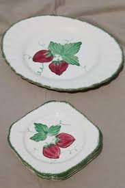 painted platter strawberry blue ridge pottery vintage china plates platter w