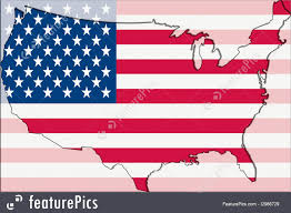 Outline Of Usa Map by Outline Map Of Usa With Transparent American Flag In Background