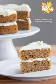vegan zucchini cake with lemon frosting the viet vegan