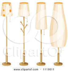 clipart of a girly lamp with polka dots royalty free vector