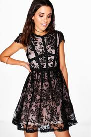 boutique emma lace corsetry prom dress boohoo