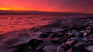 rocky shore wallpapers splash tag wallpapers sunset stones rocks sea splash red rocky