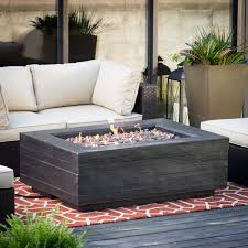 rectangle propane fire pit table red ember bozeman rectangle propane fire table with optional tank