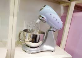 relive the space age with smeg s new retro appliances reviewed smeg s new stand mixer smf01 comes in five colors cream red black silver and pastel blue and features ten mixing speeds as well as a soft start