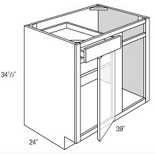 kitchen base cabinets design bbc42 45 dover white base blind corner cabinet