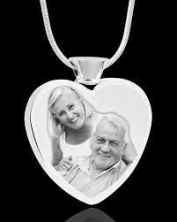 cremation pendants stainless steel heart plated photo engraved cremation necklace to