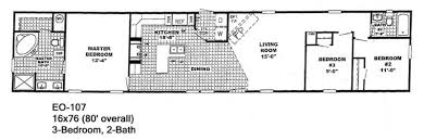 floor plan for 16x80 mobile home home plan