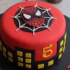 round fondant spiderman cake 1kg vanilla gift spiderman cakes