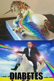 Unicorn Meme - rainbow unicorn cake by theunchosedone meme center