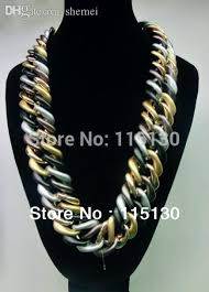 long chain choker necklace images 2018 wholesale statement gold plated plastic chunky chain choker jpg