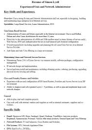 Sample Resume For Network Administrator by Linux Administrator Resume 45 Template Billybullock Us