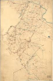 Counties Of Virginia Map by 1860 Preliminary Map Of Northern Virginia Embracing Portions Of