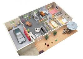 Drawing Of A House With Garage 3 Bedroom Apartment House Plans