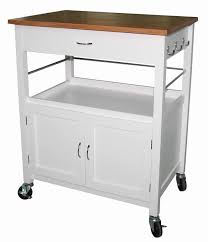 andover mills guss kitchen island cart with butcher block - Kitchen Cart Island