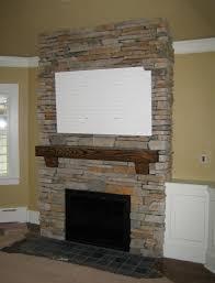 stone veneer over brick stone home exterior stone fireplace