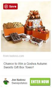 godiva autumn for thanksgiving gift box tower sweepstakes
