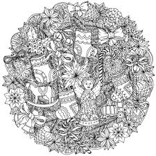 christmas mandala mashabr christmas coloring pages
