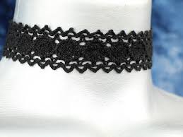 black lace ribbon 20mm 3 4 plain black scalloped cluny lace ribbon choker