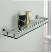 Bathroom Chrome Shelves New Modern Square Chrome Brass Bathroom Shelf Glass Shower Caddy
