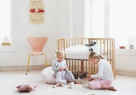 Ellery Round Crib by Baby Cribs Oval Crib Sleepi Bed Stokke Round Crib
