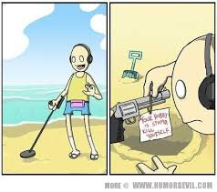 Metal Detector Meme - humor devil detecting diva
