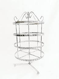 4 tiers rotating 92 pairs earring holder necklace