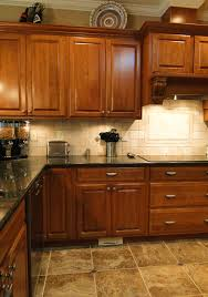kitchen wooden kitchen cabinets granite countertops mosaic tile