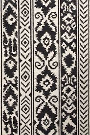 Black And Brown Area Rugs Flat Weave Tribal Pattern Wool Ivory Black Area Rug 5 X 8 Http