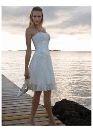 informal wedding dresses uk strapless lace chiffon knee length informal wedding dress on sale