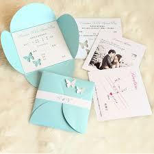 light blue wedding invitations wedding invitations baby blue butterfly wedding invitations chic