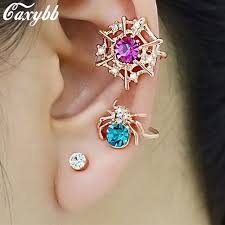earring design 2015 fashion spider web ear cuff earring design new women color