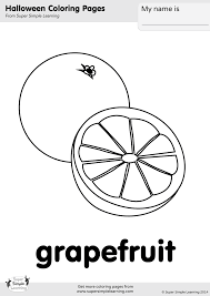 grapefruit coloring page super simple