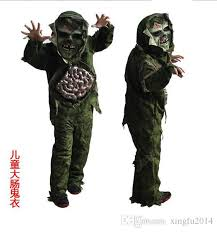 Military Halloween Costumes Kids Children Costume Kid Halloween Cosplay Scary Zombie Ghost Large
