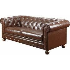 tufted leather chair and ottoman better homes and gardens oxford square sofa brown bonded leather