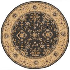 safavieh retro cream grey 6 ft x 6 ft round area rug ret2136