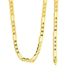 figaro gold necklace images 10k gold figaro link nfi816 chain crazy jewelry jpg