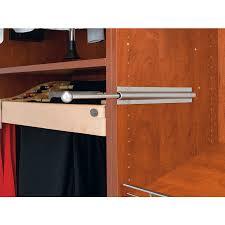 shop rev a shelf satin nickel standard valet rod at lowes com