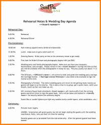 7 day of wedding timeline template mail clerked