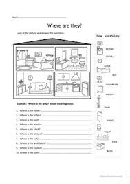 47 free esl rooms in the house worksheets