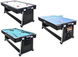 hathaway triad 48 inch 3 in 1 multi game table 3 in 1 rotating multi game table pool air hockey ping pong by