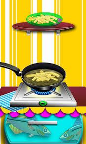 jeux de cuisine de poisson chips de friture de poissons maker jeux de cuisine pour les filles
