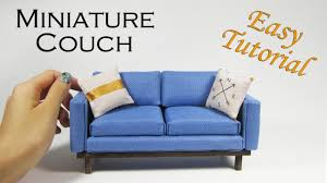 Diy Chaise Lounge Sofa by Diy Miniature Couch Youtube