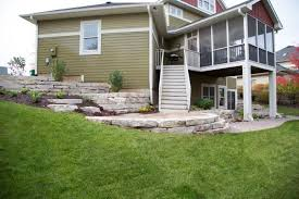 Drainage Issues In Backyard Drainage Issues Are Long Gone With This Patio And Retaining Wall